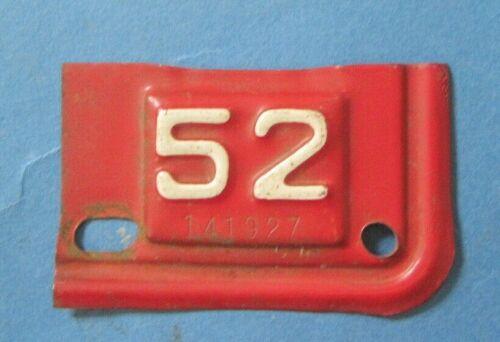 1952 Virginia truck License Plate date tab