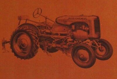 Allis Chalmers Model B 60 Series 1 Row Cultivator Operators Parts Manual Ac