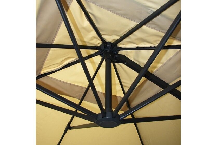 3x4 m Design Sonnenschirm Ampelschirm Gartenschirm 3m 4m Gastronomie MIT FLAP