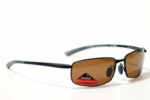 BOLLE-SUNGLASSES-BENTON-SATIN-BLACK-11566-POLARIZED-NEW
