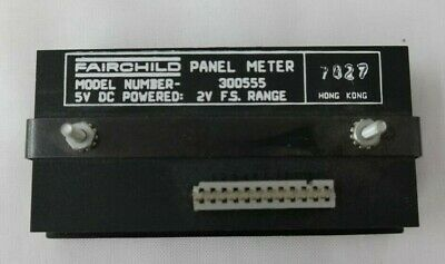 Fairchild Panel Meter Model 300555 5v Dc Powered 2v F.s. Range T5
