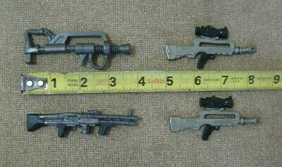 Toy guns Action figure arsenal 4 total plastic military accessory toys (Plastic Toy Guns)