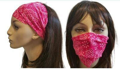 Wide Stretch Headband Cloth Face Mask Cover Made in USA Softbandz Pick Fabric