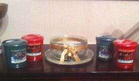 ankee Candles - Voltives x 4 - Handmade Christmas Holder