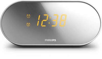 Philips AJ2000 Dual Voltage Alarm Clock Radio for Worldwide Use 110/220 Volt NEW