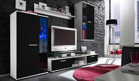 Living Room Furniture Set TV Stand Cabinet Unit Cupboard Wall Mounted SALSA MEBLOSCIANKA