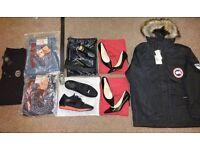 Wholesale/Joblot Mens Jeans, Shoes, Coat, Belt + Ladies Louboutin Heels - Giuseppe, True Religion