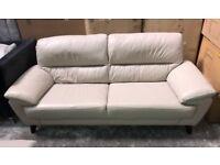 DFS Eros leather 3 seater sofa