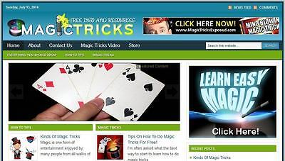Magic Tricks Complete Website Make Money Installation Free Hosting