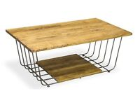 Loft Style Rectangular Coffee Table - New - Free Delivery