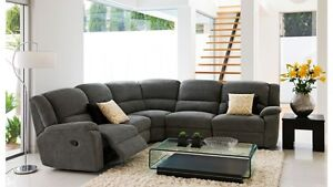 CORNER LOUNGE SUITE FABRIC MODULAR 4 PIECE 6 SEATER WITH SOFA BED Jindalee Brisbane South West Preview
