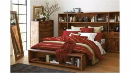 Queen Bookshelf Bed Frame From Harvey Norman