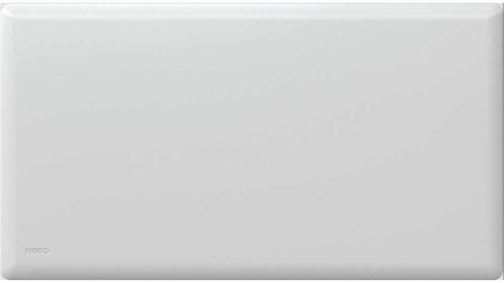 Nobo 1500W Electric Panel Heater IP24//Thermostat /& Castors Bedroom//Bathroom Whit