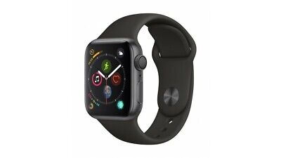 Apple Watch Series 4 44mm 16GB Space Grey - Aluminium Case - Black Band UK Stock