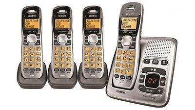 UNIDEN Digital Technology Cordless Phone System With 3 Extra Handsets Digital Cordless Phone System