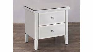 Mirrored mirror glam bedside table - Harvey Norman RRP $649 Coomera Gold Coast North Preview