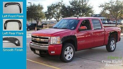 FENDER FLARES RIVET Style 2007-2013 Chevrolet Silverado 1500 PAINTABLE FULL SET, used for sale  Shipping to Canada