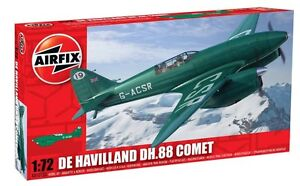 Airfix-01013A-de-Havilland-DH-88-Comet-Racer-Green-1-72-Scale-Plastic-Model-Kit