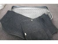 Nissan note 2009 model floor mats and boot liner