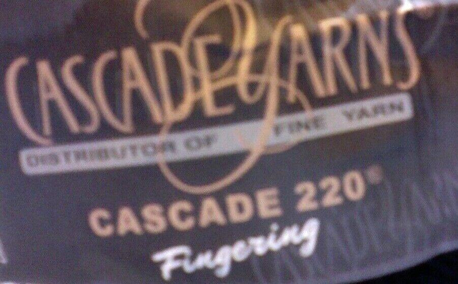 2 /skeins black Cascade 220 Fingering Yarn 50g each 273 yard