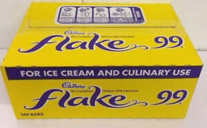 144 x Cadburys Flakes for 99 Ice Cream Catering Box 1.2kg Free P And P £18.49