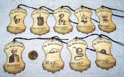 Halloween~Potion~Label~Creepy~Linen Cardstock~Gift~Hang~Tags