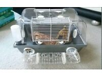 Sliver hamster / mouse cage plus extras