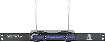 Vocopro VHF3300 2 Channel VHF Rechargeable Rack Mountable Wireless Microphone