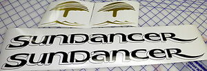 Sea-Ray-Sundancer-Decals-with-fake-drop-shadow-free-shipping-Black-gold-medium