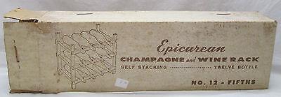 Vintage Epicurean Champagne and Wine Rack Self Stacking Twelve Bottle No. 12