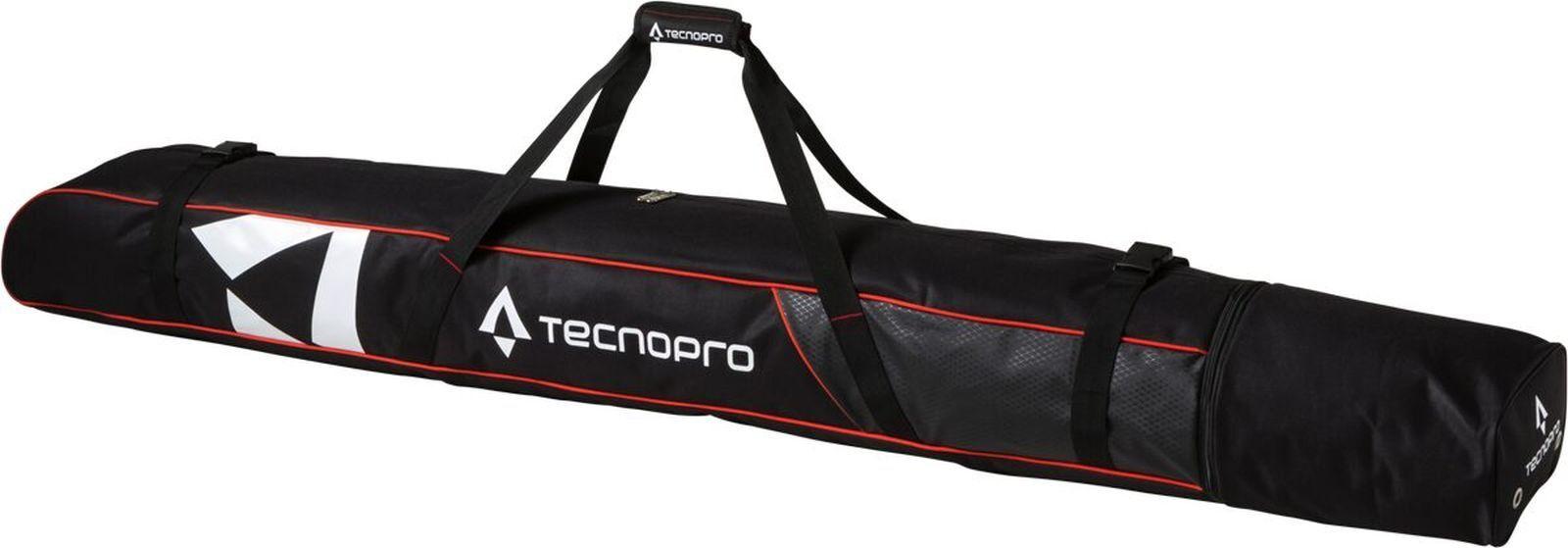 Tecno Pro Skisack Skitasche Cover Carving für 2Paar Ski schwarz / rot