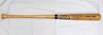 Maury Willis Stats Autographed Blonde Rawlings Pro Baseball Bat- JSA W Auth