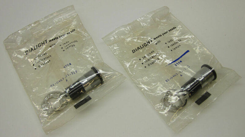Dialight 81-0463-01-313 T3 1/4 Miniature Bayonet Lamp Base, Watertight, Lot of 2