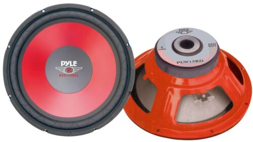 Pyle - PLW15RD 15-Inch 1000 Watts Red Cone High Performance