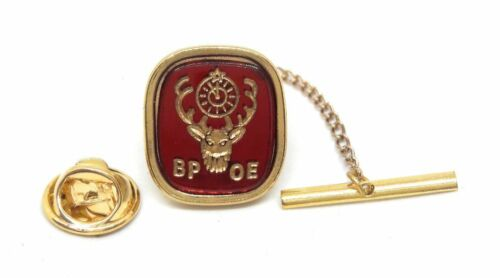 ELKS CLUB TIE TACK / LAPEL PIN 18KT GOLD PLATED MANUFACTURERS DIRECT PRICING