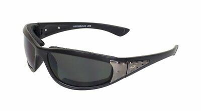 Global Vision Eyewear Viva Foam Padded Sunglasses Smoke Lens Black Frame