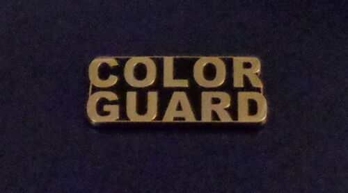 COLOR GUARD Gold on Black Lapel/Uniform Pin police/fire dept