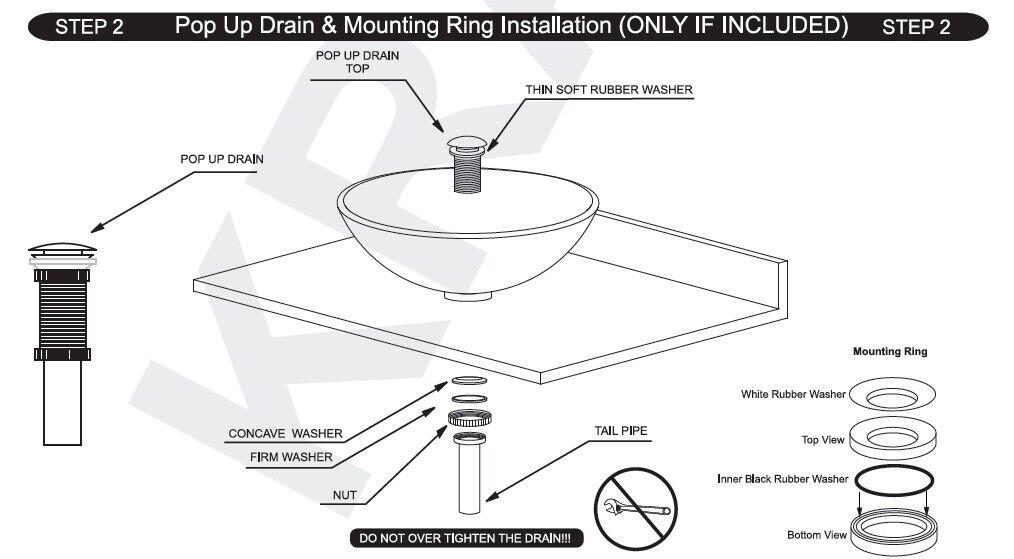us bathroom round vessel sink drain