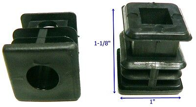 Oajen Caster Socket Furniture Insert For Socket Stem Use With 1 Od Tube 4 Pcs