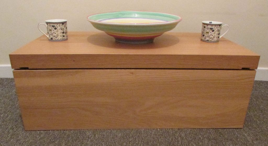 Ikea Modern Blanket Box Storage Toy Box Sliding Top Coffee Table In Leicester Forest East