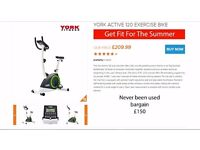 YORK ACTIVE 120 EXERCISE BIKE NEVER USED