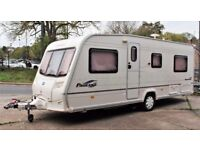 2006/07 BAILEY PAGEANT BURGUNDY, 4 BERTH (FIXED BED) WITH FULL SIZE AWNING & MOTOR MOVER - EXTRAS!