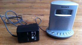 Sony radio alarm clock with 3 bands FM/MW/LW - model ICF-C713L