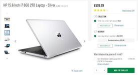 HP 15.6 Inch i7 8GB 2TB Laptop - Silver