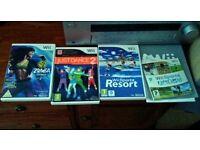 Nintendo Wii + 4 Games