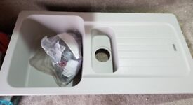 New ranke Aveta 1.5 Bowl Stone Grey Tectonite Reversible Kitchen Sink & Waste