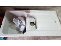 New ranke Aveta 1.5 Bowl Stone Grey Tectonite Reversible Kitchen Sink & Waste