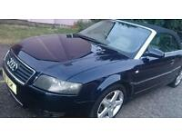 AUDI A4 2004 convertible LONG MOT LEATHER 2,4 DIESEL ONLY 2350