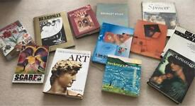 A collection of Art books, the majority are hardback.