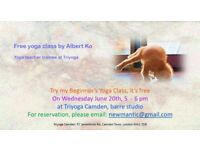 Free yoga class by teacher trainee, beginners welcome